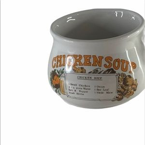 Vintage Chicken Soup Recipe Ceramic Mug Cup